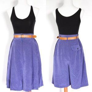 ☾ Vintage silky high-waisted indigo shorts